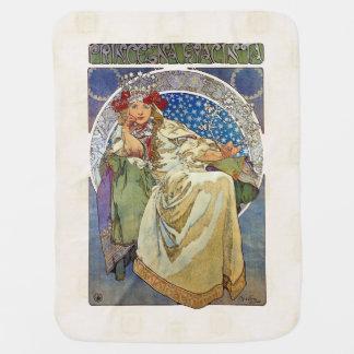Alfons Mucha 1911 Princezna Hyacinta Stroller Blanket