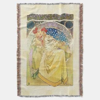 Alfons Mucha 1911 Princezna Hyacinta Throw Blanket