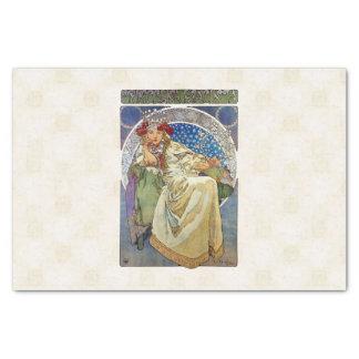 Alfons Mucha 1911 Princezna Hyacinta Tissue Paper