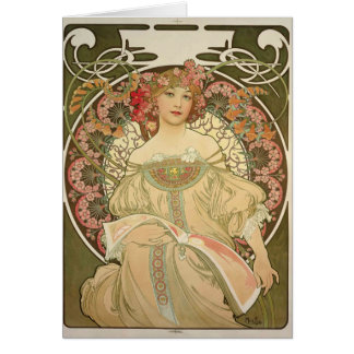 Alfons Mucha 2 Greeting Cards
