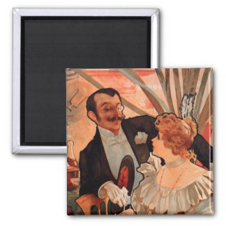 Alfons Mucha 2 Inch Square Magnet