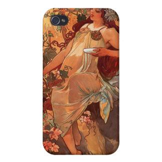 "Alfons Mucha  ""Autumn"" iPhone 4/4S Case"