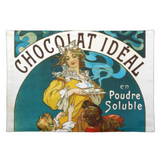 Alfons Mucha Chocolat Idéal Children illustration Cloth Placemat
