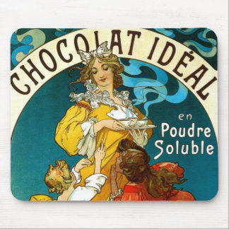 Alfons Mucha Chocolat Idéal Children illustration Mouse Pad