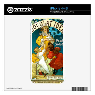 Alfons Mucha Chocolat Idéal Children illustration Skins For The iPhone 4S