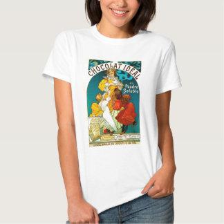 Alfons Mucha Chocolat Idéal Children illustration T Shirt