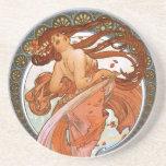 Alfons Mucha: Dance Beverage Coaster