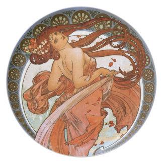 Alfons Mucha: Dance Dinner Plate