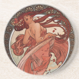 Alfons Mucha Dance Drink Coasters