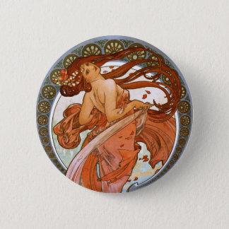 Alfons Mucha: Dance Pinback Button