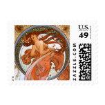 Alfons Mucha: Dance Postage Stamp