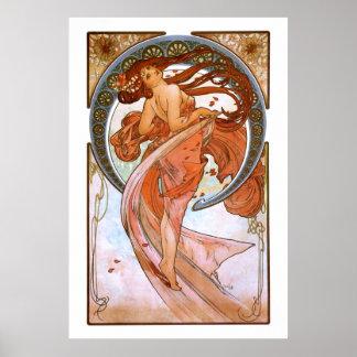 Alfons Mucha: Dance Poster