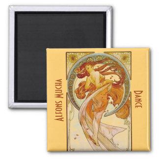 Alfons Mucha Dance Vintage Print Magnet