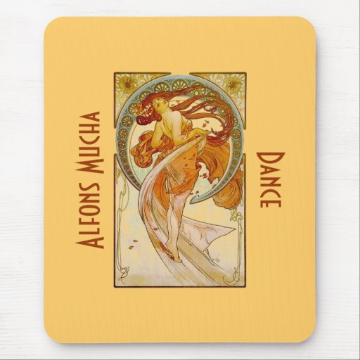 Alfons Mucha Dance Vintage Print Mousepad