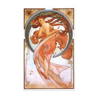 Alfons Mucha: Danza Impresión En Tela