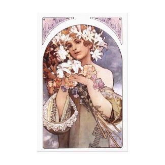 Alfons Mucha: Flower wrappedcanvas