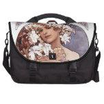 Alfons Mucha: Flower Laptop Messenger Bag