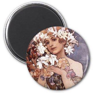 Alfons Mucha: Flower magnet