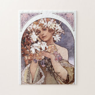 Alfons Mucha: Flower Puzzle