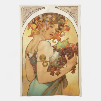 Alfons Mucha: Fruit Kitchen Towel