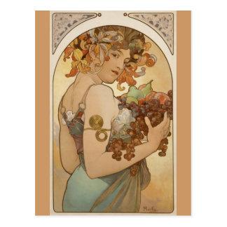 Alfons Mucha - Fruit Postcard