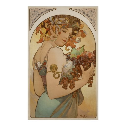 Alfons Mucha - Fruit Poster