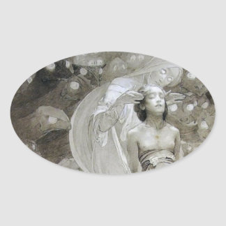 Alfons Mucha ~ illustration from Le Pater Oval Sticker