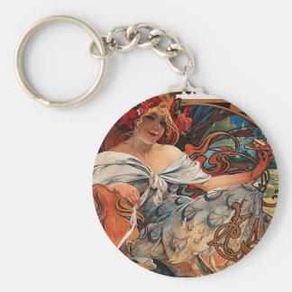 Alfons Mucha Keychain