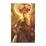 Alfons Mucha: Luna Canvas Print
