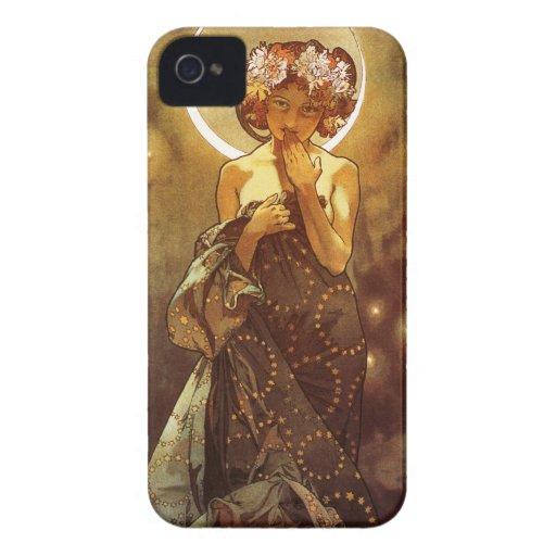 Alfons Mucha: Luna Case-Mate iPhone 4 Carcasas