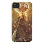 Alfons Mucha: Luna Case-Mate iPhone 4 Cobertura