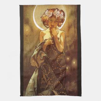 Alfons Mucha: Luna Kitchen Towel