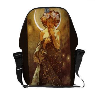 Alfons Mucha: Luna Messenger Bag