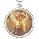 Alfons Mucha: Luna Necklaces