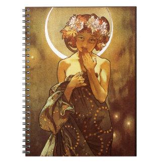 Alfons Mucha: Luna Notebook