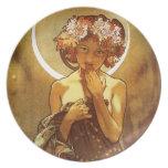 Alfons Mucha: Luna Party Plates