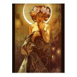 Alfons Mucha: Luna Postcard