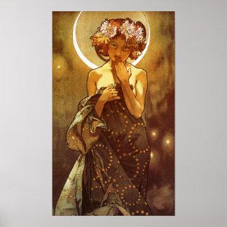 Alfons Mucha: Luna Posters