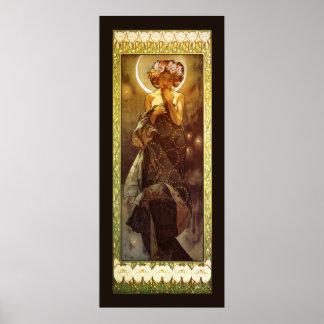 Alfons Mucha Luna Posters