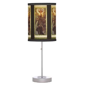 Alfons Mucha: Luna Table Lamp