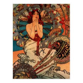 Alfons Mucha Monaco Monte Carlo Postcard