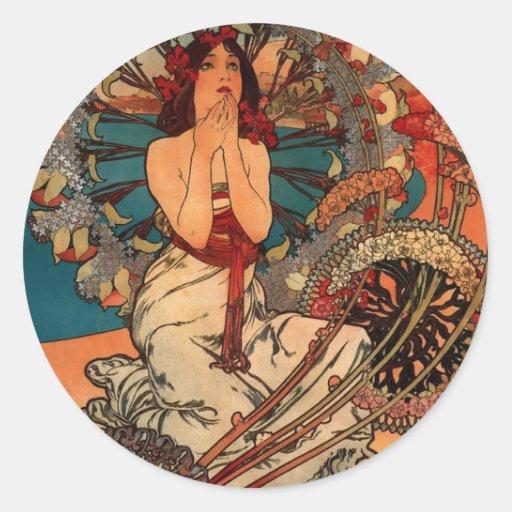 Alfons Mucha Monaco Monte Carlo Stickers