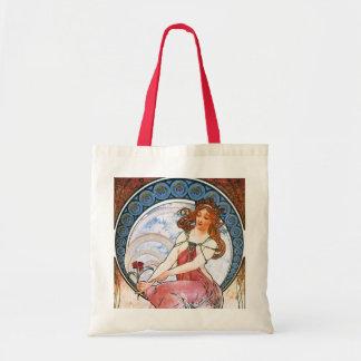 Alfons Mucha: Musa de la pintura Bolsa Tela Barata