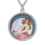 Alfons Mucha: Musa de la pintura Collar Personalizado