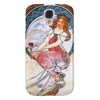 Alfons Mucha: Musa de la pintura Funda Para Galaxy S4
