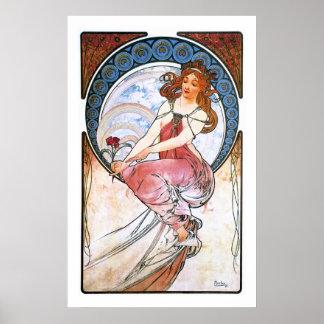 Alfons Mucha: Musa de la pintura Póster