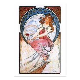 Alfons Mucha: Musa de la pintura Tarjeta De Negocio