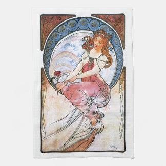 Alfons Mucha: Musa de la pintura Toalla