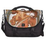 Alfons Mucha: Muse of Dancing Laptop Commuter Bag