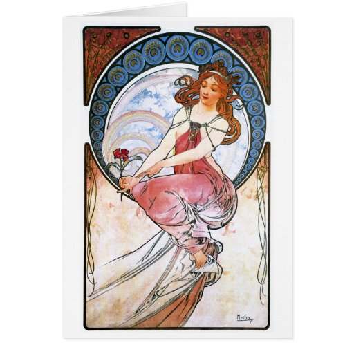 Alfons Mucha: Muse of Painting Card